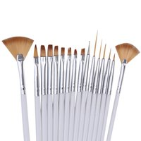 16pcs/set paiting art - Pro Nail Art Pen Brush Set Drawing Paiting Line Dotting Acrylic UV Gel Design Builder Salon Wood Manicure Art Decoration