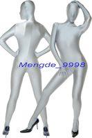 tam gövde spandex cadılar bayramı kılık toptan satış-Unisex Tam Vücut Suit Kıyafet Gümüş Gri Likra Spandex Catsuit Kostümleri Unisex Cosplay Kostümleri Seksi Bodysuit Catsuit Cadılar Bayramı Takım M043