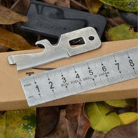 ücretsiz kredi kartı bıçağı toptan satış-Stainless Steel Portable Mini Multi-Purpose Timberline Pocket Survival Tool NIB Screw Driver Hand Tools
