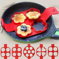 Wholesale Quick Easy Cakes - Pancake Mold Nonstick Silicone Pancake Ring Maker Healthy Multi-functional Quick and Easy Way to Make Perfect Pancake Fried Eggs
