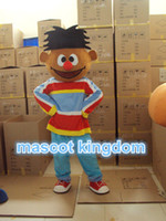 elmo outfits achat en gros de-Ernie Seasame Street Elmo Friend Mascot Costume Outfit Fancy Dress Livraison gratuite