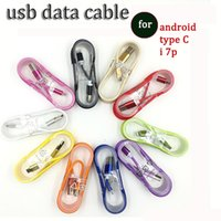 Wholesale Metal Cellphone - 1.5m Nylon Braided Cable Woven Metal Head Micro usb type C Data cable Cord For Note8 S8 PLUS S6 Blackberry HTC Android cellphone