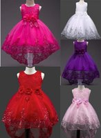 Wholesale Trailing Sash - A undertakes to sell 5 color hot sell Foreign trade style new arrivals Girls Lovely sequined Trailing skirt princess dress fashion dress