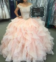 Wholesale Portrait Specials - Crystal Quinceanera Dresses Off the Shoulder Designed Major Beading Bodice With Draped Ball Tulle Prom Gowns Lace-up Special Occasion Dress