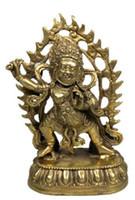 antikes gold buddha-statue großhandel-Reine Bronze Buddha Hand Buddha Statue antike Zen gewidmet der Ornamente Wohnzimmer Hause Schmuck Handwerk