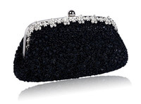 Wholesale Sequin Wedding Clutch - High Quality Handmade Clutch Bag for Lady Beautiful Sequin Purse for Evening Bag Wedding Bag Women Party Handbag