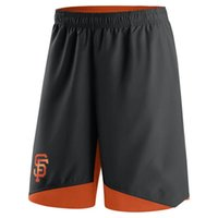 Wholesale Giant Collection - Men's San Francisco Giants Black orange Authentic Collection Dry Woven Performance Shorts pants knickers breeches panties,support our best