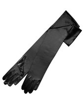 Wholesale satin long party gloves - Full Finger Long Bridal Gloves Satin Elbow Length Adult Wedding Party Gloves Cheap Wedding Accessories In-Stock Free Shipping New Arrival
