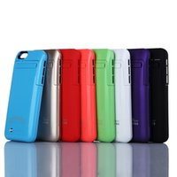 """Wholesale Battery Powered Cell Phone Case - New 3500mAh battery power bank Charger case cover for iPhone 6 6s 4.7"""" Cell Phone Chargers External Battery Case Free Ship"""