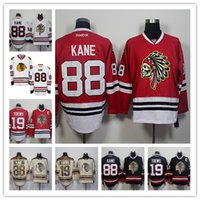 Wholesale Hot Men s Sports Chicago Blackhawks Jonathan Toews Patrick Kane NHL Ice Hockey Home Red Road White Gold Green Stitched Jerseys