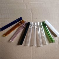Wholesale Oil Filter Wholesalers - Glass Oil Burner Pipe Glass Pipe Cigarette Bat C HLLIUMS One Hitter Pipe Cigarette Filter Pipes Length: 10 cm