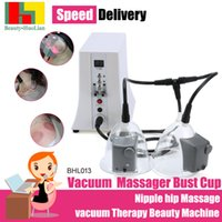 Wholesale Nipple Vibrating Pump - Electric vibrating Vacuum Nipple hip Massage vacuum Therapy Beauty Machine Enlargement Pump Lifting For Breast Enhancer Massager Bust Cup