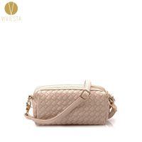 Wholesale Leather Across Shoulder Bags - Wholesale-WOVEN CROSSBODY MINI BAG - Women's High Quality PU Leather Double Zipper Weave Knit Fashion Clutch Shoulder Across Bag Handbag