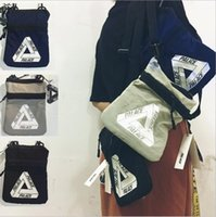 Wholesale Triangle Cell Phone - Palace vlone off white triangle graffiti black and white covered woman male student postman messenger bag YYA658