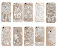 weiße hüllen für samsung großhandel-Henna White Floral Paisley Blume Mandala Elefant Dream Catcher PC Zurück phone case abdeckung für iphone 6 7 plus samsung s7 note6