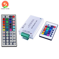 Wholesale Cheap Led Strips - Aluminium 24Key 44Key 12A Output IR Remote Control Cheap DC12V-24V Input RGB Controllers for LED Strip