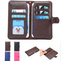 blackberry handy abdeckungen großhandel-Universal Wallet PU Flip Ledertasche Kreditkarte zurück Tasche für Handy-Handy