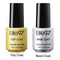 Wholesale Wholesale Acrylic Base - Wholesale-Elite99 Gel Nail Primer 7ml Easy Soak Off Gel Nail Polish Base Gel Top coat UV Nail Art Gel Polish Builder Acrylic Polish Set