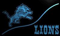 ingrosso leone leggero-LS2041-b-Detroit-Lions-bar-Neon-Light-Sign Decor Dropshipping Wholesale Wholesale 6 colori