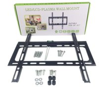 "Wholesale Mounting Flat Screen Wall - LED   LCD Plasma TV Wall Mount Flat Panel Fixed Screen Bracket Suitable for 26"" - 63"" Pking"