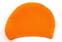 Wholesale Hat Cap Bathing - TTL123 Wholesale - Durable Stylish Sporty Latex Swimming hat flexibility sport Swim Cap Bathing Hat 3 Colors