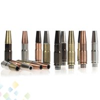 Wholesale Bullet Brass - RDA Atomizer Bullet Drip Tip Dismountable Drip Tip high quality Copper SS Brass Black 4 colors for all RDA and 510 Rebuildable Atomizer