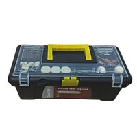 Wholesale Rotary Tool Box - Wholesale-12 inch Hand carry type Multifunction Plastic Toolbox Repair Tool box 300*155*115mm Rotary tool Toolkit