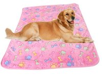 Wholesale Doghouse Free Shipping - Free shipping wholesale pet blanket, dog blanket super soft warm coral cashmere doghouse cushions cats and dogs supplies