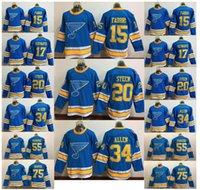 Wholesale 34 75 Size - Mens Womens Kids Blues 2017 Winter Classic Team Player Sports Ice Hockey Jerseys #15 #20 #34 #17 #55 #75 Size M-3XL Free Shipping