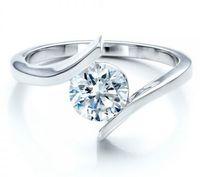 Wholesale Vvs Diamond Engagement Rings - 0.50ct VVS-G Certified Round Lab Created Diamond Engagement Ring 14K White Gold