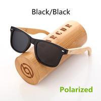 Wholesale Handmade Wood Glass Frames - BARCUR Wood Sunglasses PC Frame Handmade Bamboo Sunglasses Men Wooden Sun glasses for Women Porized Oculos de sol masculino