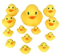 Wholesale 13 Years Kids Beach - 1800pc 6*6*5.5cm High Quality Baby Bath Water Duck Toy Sounds Mini Yellow Rubber Ducks Kids Bath Small Duck Toy Children Swiming Beach Gifts