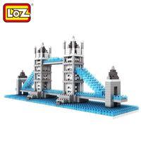 Wholesale Tower Bridge Model - Loz Diamond Blocks World Famous Architecture London Tower Bridge Mini 3D Model Building Blocks DIY Assembly Bricks Toys