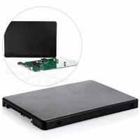 """Wholesale Mini Pcie Msata - Wholesale- Black Mini pcie PCI-E mSATA SSD to 2.5"""" SATA3 Convertor Adapter Card SSD Case"""