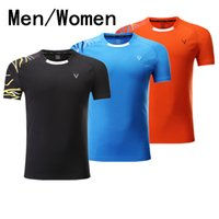 Wholesale Summer Sport Dress Women - Hot, new badminton tennis dress   man   woman short sleeved summer ventilation speed dry table tennis sports clothing