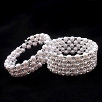 Wholesale clearbridal for sale - Group buy Clearbridal White Pearls Stretchy Vintage Prom Wedding Party Evening Bracelets Bridal Jewelry Accessories