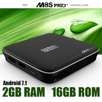 Wholesale Android 2ghz - s905x android 7.1 tv box mecool m8s pro quad core 2GHz KD17.1 fully loaded Netflix Youtube 2GB+16GB 4K media player