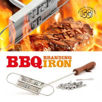 Wholesale BBQ Meat BURGER BRANDING IRON CHANGEABLE LETTERS BARBECUE NAMES TOOL STEAK OUTDOOR