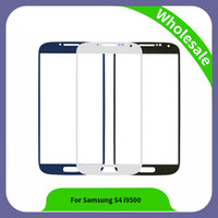 Wholesale S4 Replacement Glass - 5.0 inch For Samsung Galaxy S4 GT-i9500 i9500 Touch Panel Glass Front Outer Glass Lens High Quality New Replacement
