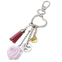 Wholesale Heart Shaped Antique Key - Mom I Love You KeyChain Great Gift for Mother's Day Mom Heart-shaped Key Ring Lovers friendship key chain 16.5cm