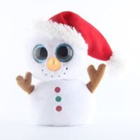 Wholesale Plush Snowman Toy - Ty Beanie Boos Cute Christmas Snowman Red Hat Gift Stuffed Animals & Plush