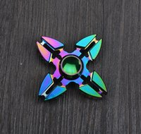 Wholesale Two Finger Edc - Two Three Four Tri Fidget Spinner Metal Hand Spinner EDC Gyro Stress Toys Torqbar Brass Gyroscope Finger Spinner