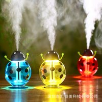 Wholesale Radiation Usb - Beetles Mini Humidifiers Creative Usb Air Purifier LED Night Light Atomizer Mute 0 Radiation AC Appliances 360 Degree Rotation 28hq R