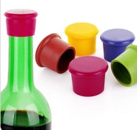 Wholesale Wine Bottle Corks Free Shipping - DHL Free shipping 100pc Creative Silicone Fresh Beer Bottle Stopper Cruet Of Wine Cork Stopper Bottle Cap Flip Top Lid Seal Cork