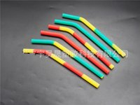Wholesale cleaning hose online - Colorful Soft Silica Gel Drinking Straw Easy To Clean Hoses Safety Silicone Straw Reusable Tubularis For Children Drink Water Juice yh