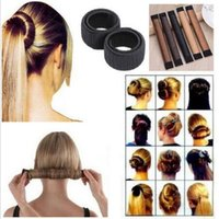 6 couleurs cheveux perruque synthétique Donuts Bud Head Band Ball French Twist French Magic Bun Machine cheveux doux Braiders CCA6244 1000pcs