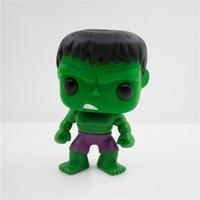 Wholesale Bobble Heads Funko - BONTOYSHOP FUNKO POP 08# The Avengers Hulks Vinyl Cute Bobble Head Toys Brinquedos PVC 10cm Action Figure Anime Figure
