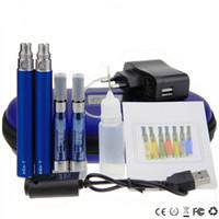 Wholesale Ego Ce5 Double Starter Kit - CE5+ Double kits eGo zipper case starter kit e cigs electronic cigarette CE5 plus atomizer 650mah 900mah 1100mah battery cig vapor vaporizer