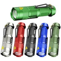 7W 300LM SK-68 3 Modes Mini Cree Q5 LED Lampe torche Tactical Lampe réglable Focus Zoomable Light