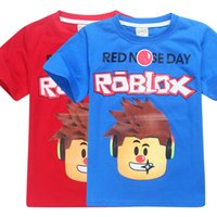 Wholesale Girl Character Costume - Kids Clothes Girls Boys T shirt Cosplay Roblox Red Nose Day Dan Tdm Printed Cotton T-shirts Costume Child Casual Tee Tops